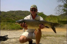The dam is stocked with Bass, Kirper, various Carp species, Catfish as well as Tiger fish.