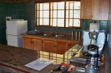 This is the chalet kitchen area.